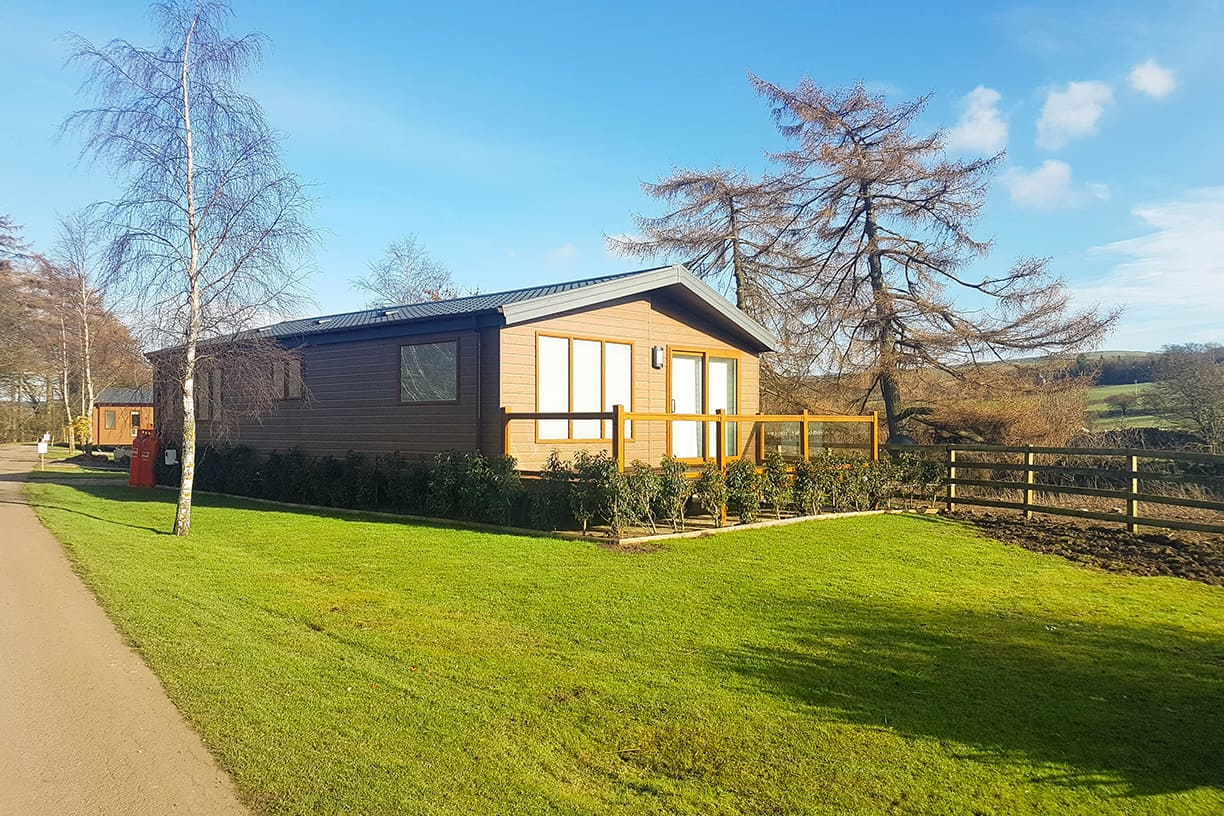Luxury lodges for sale on an exclusive pitch development in County Durham