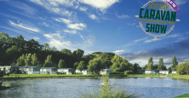 Riverside Leisure Park with Scottish Caravan holiday home and motorhome logo
