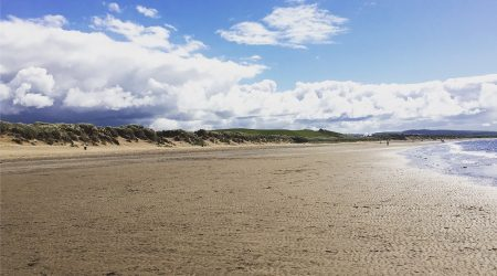 Enjoy a long walk on Irvine Beach with your pooch on a pet friendly break at Viewfield Manor
