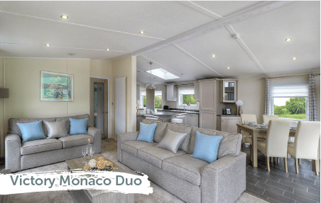 Lodge living room in the Victory Monaco Duo