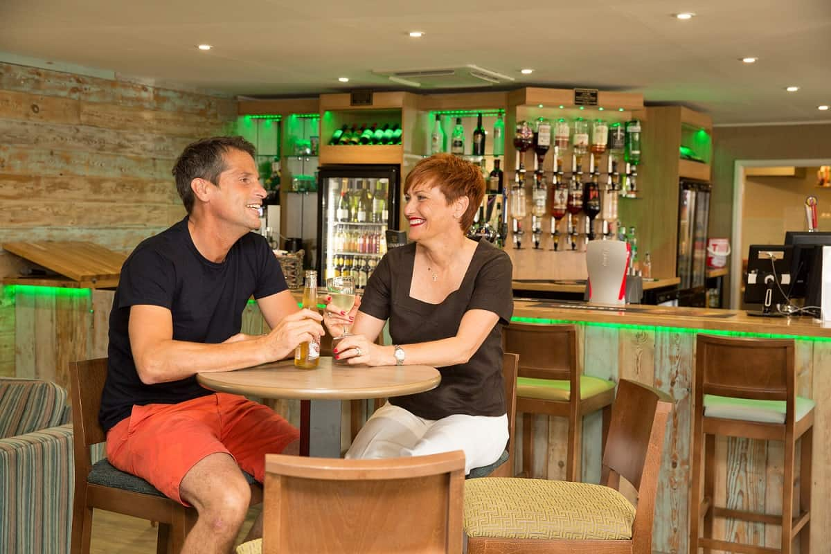 Couple in thebar at Coldingham Bay Leisure Park