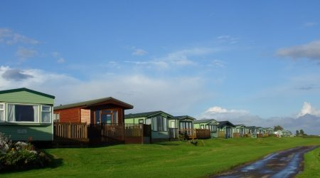 Holiday home overlooking the coast at Queensberry Bay Holiday Park