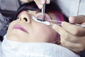 Lash treatment at Powfoot Spa