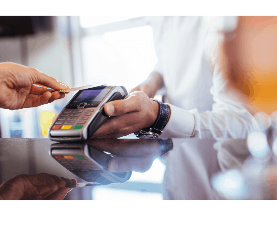 Contact free payments in shops