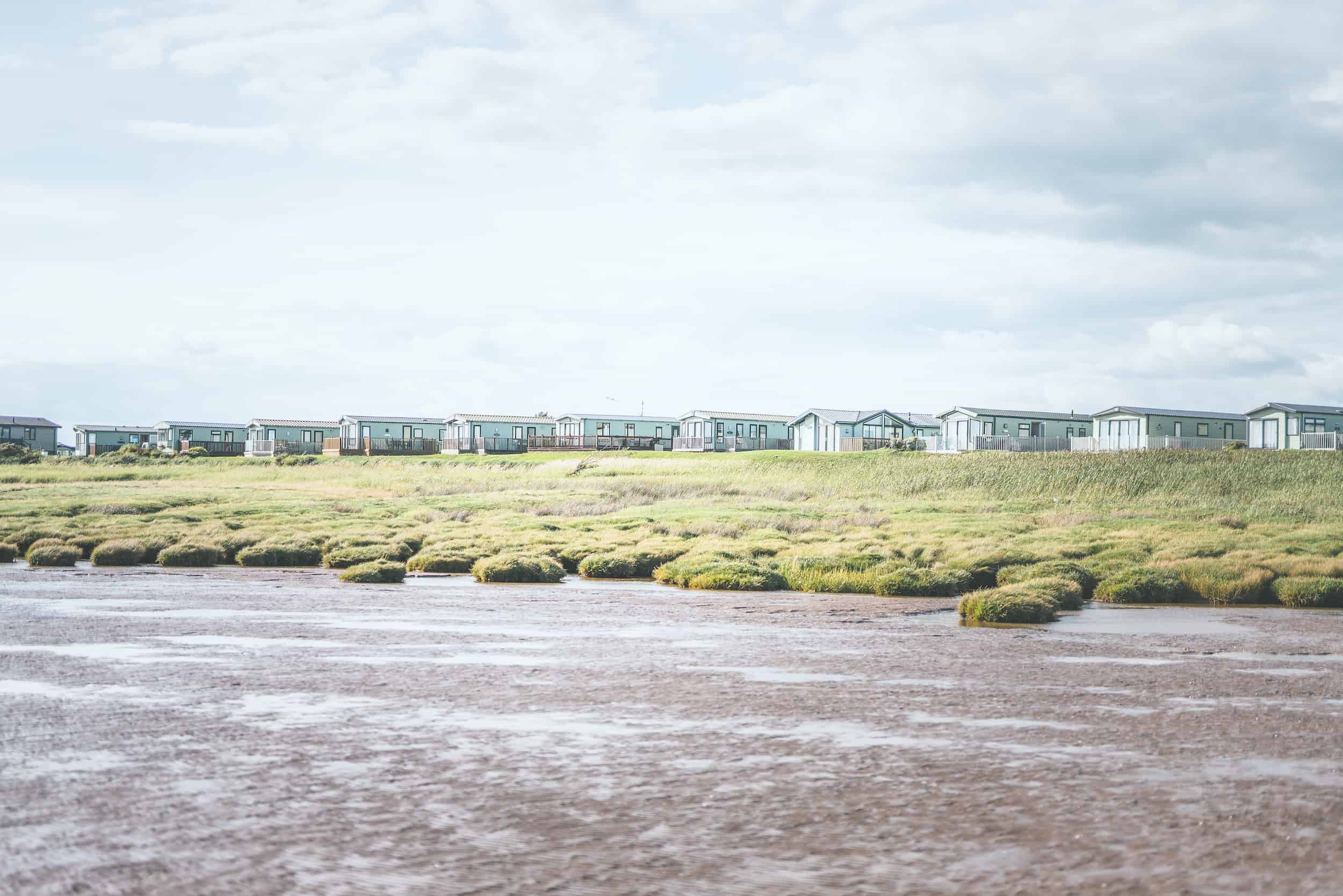 Queensberry Bay caravans overlooking the beach
